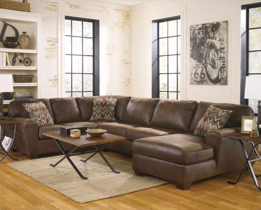 Sectional Leather Sofas   Ashley Furniture Leather Sectional   Large Sectional Sofas