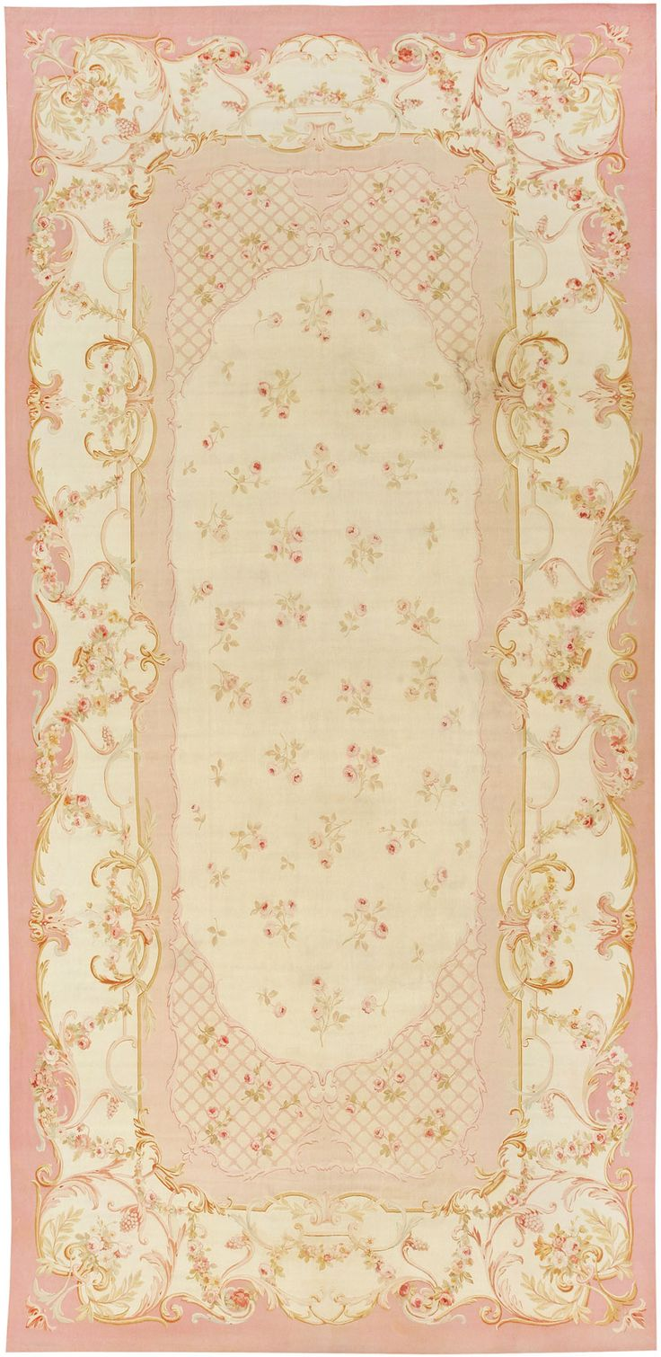 Sensational Pink Aubusson Rugs | Alluring Aubusson Rugs
