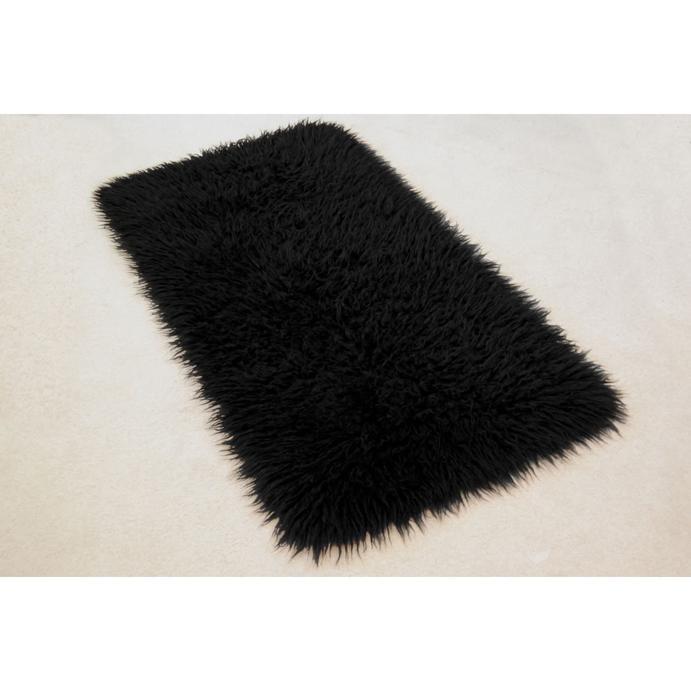 Shearling Blanket | Fur Rug | Gray Fur Rug