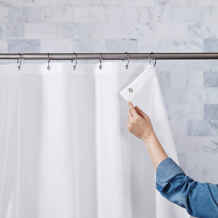 Shower Curtain And Liner | Shower Curtain Liner | Fabric Shower Curtain Liner
