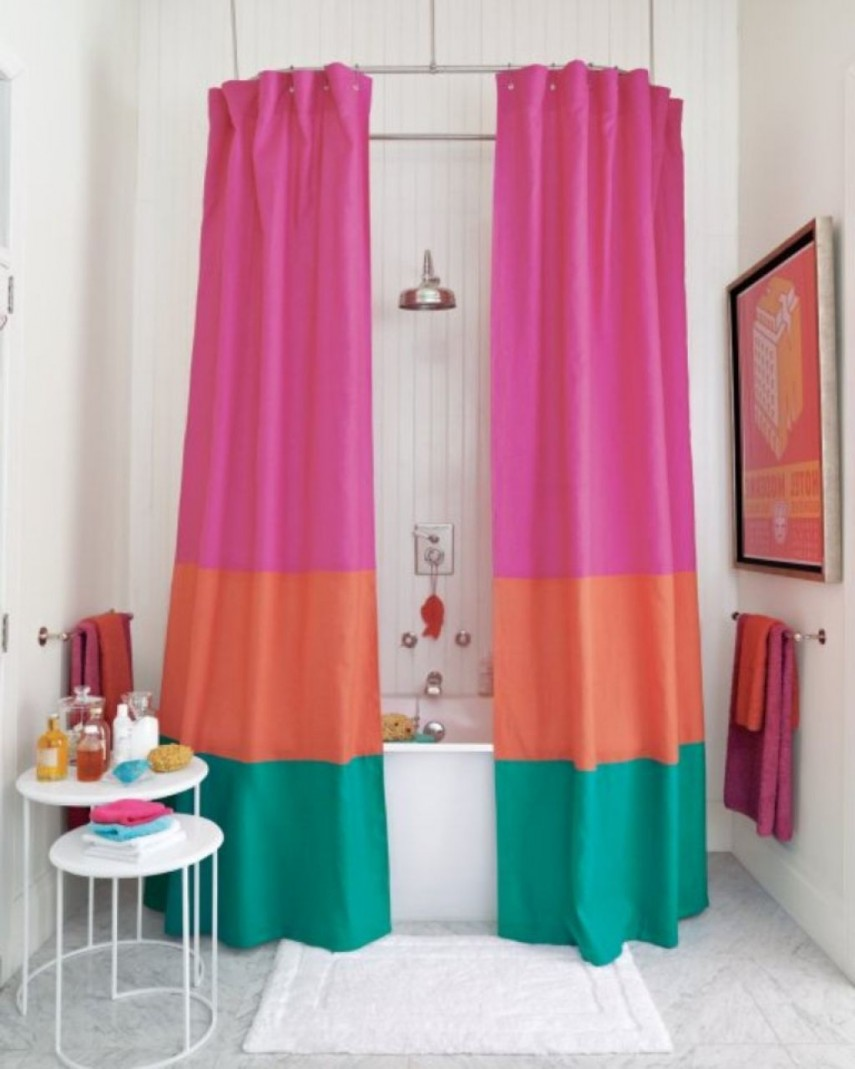 Shower Curtain Liner | Cloth Shower Curtain Liner | Hookless Fabric Shower Curtain With Snap Liner