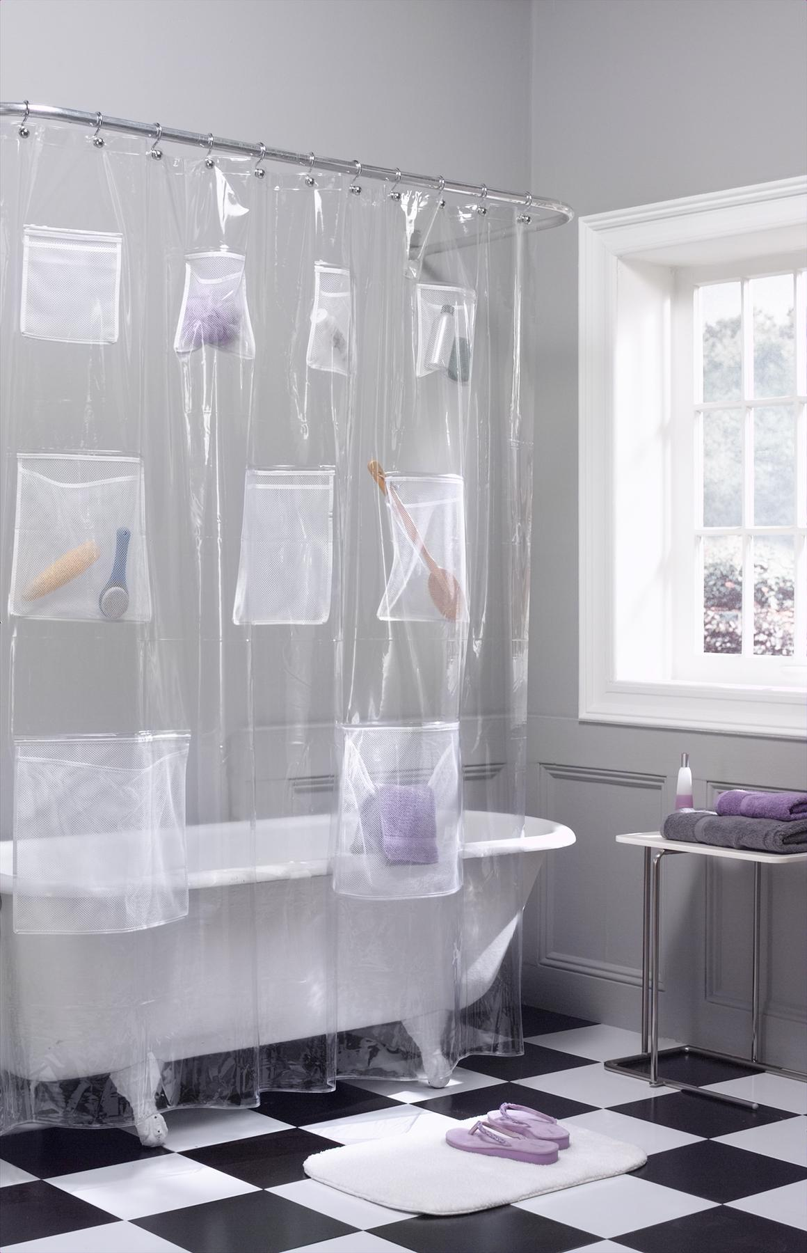Shower Curtain Liner | Hookless Shower Curtain Liner | Non Toxic Shower Curtain Liner