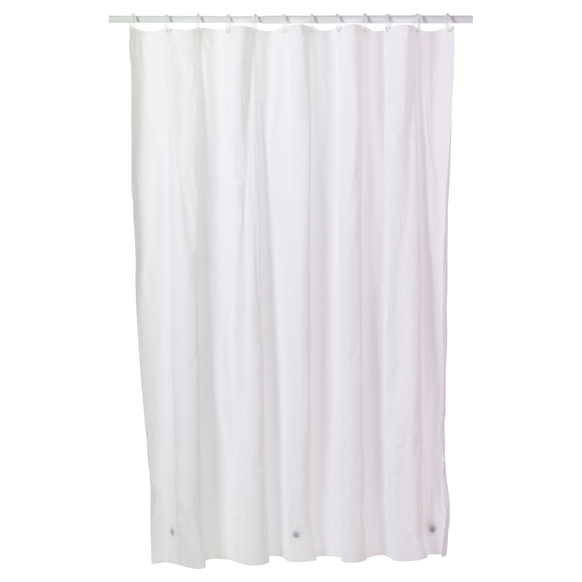 Shower Curtain Liner with Pockets | Shower Curtain Liner | Hookless Shower Curtain with Snap Liner