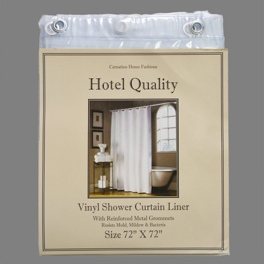 Shower Curtain With Liner | Shower Curtain Liner | Hookless Shower Curtain With Snap Liner