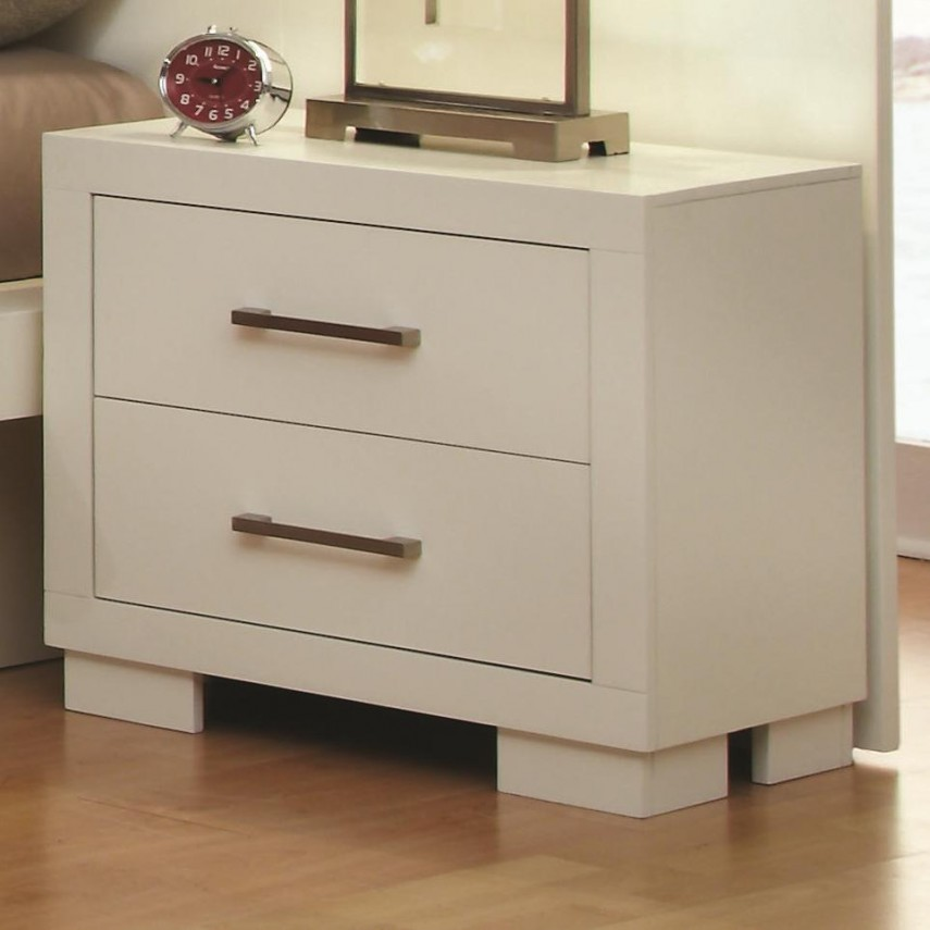 Side Table With Drawers | Narrow Nightstand | Round Nightstand