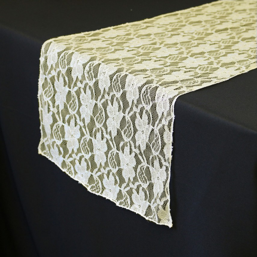 Silver Sequin Table Runner | Lace Table Runners | Plum Table Runners