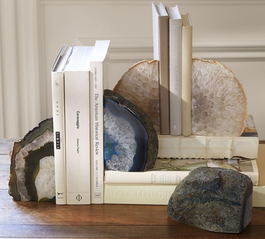 Simple Geode Bookends Stone Ideas | Enchanting Geode Bookends