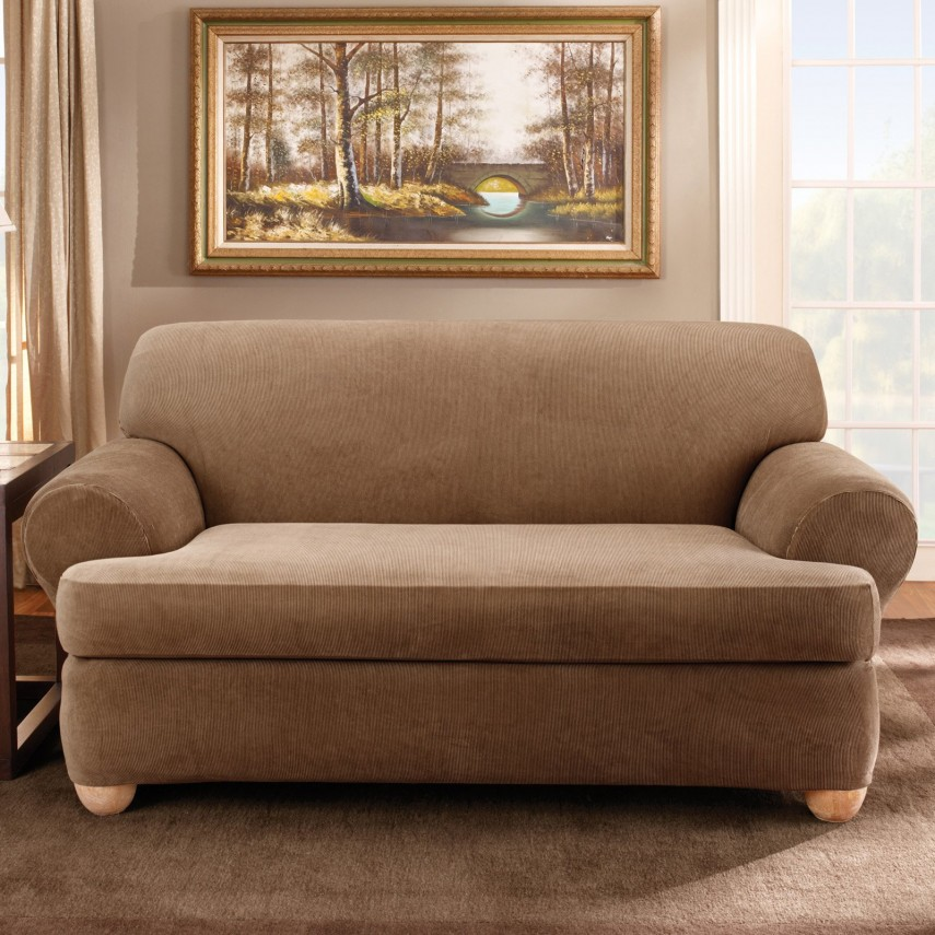 Slipcover For Sofa With Three Cushions | T Cushion Sofa Slipcover | T Cushion Chair Covers