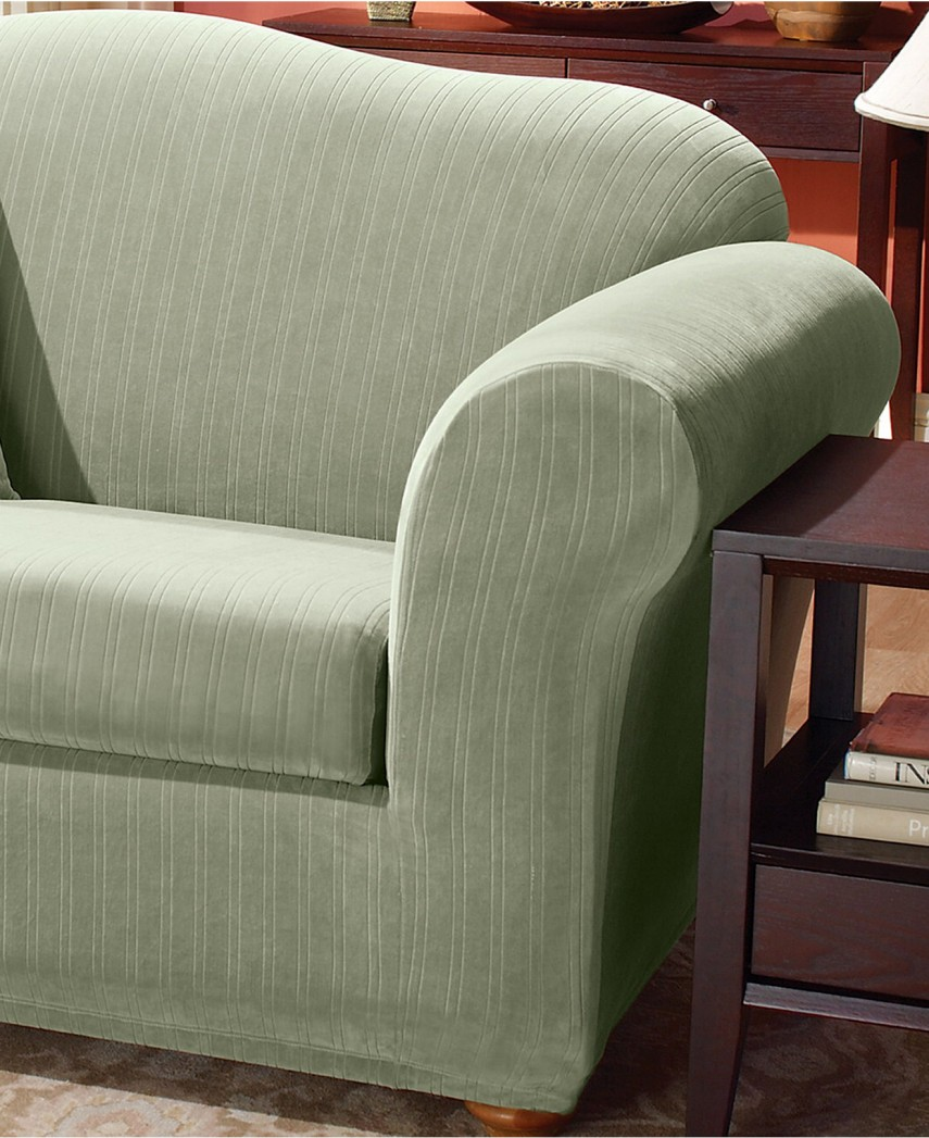 Slipcovers For Sofas With Loose Cushions   T Cushion Sofa Slipcover   T Cushion Chair Covers