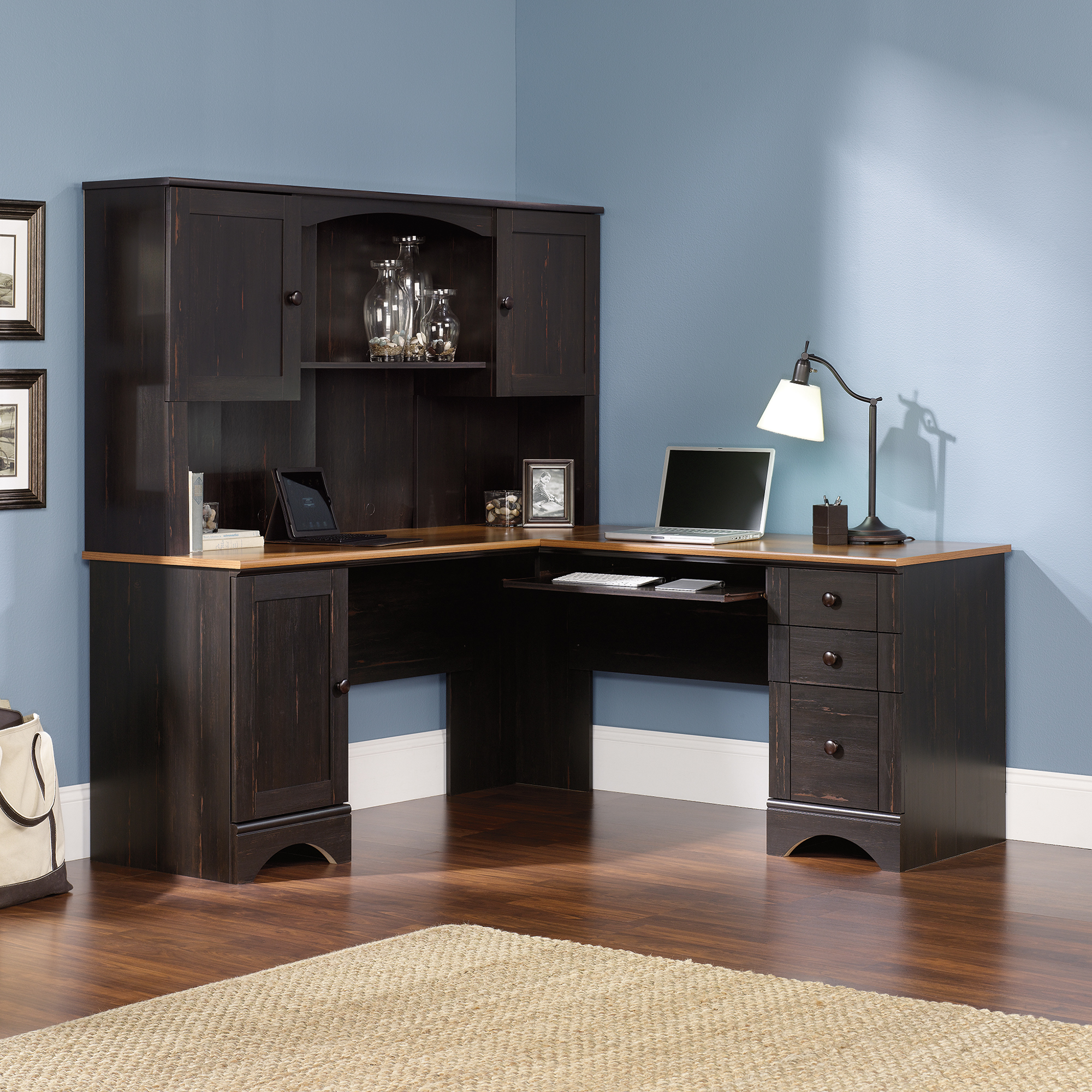 Small Desk Hutch | Sauder Computer Desks | Oak Computer Desk with Hutch