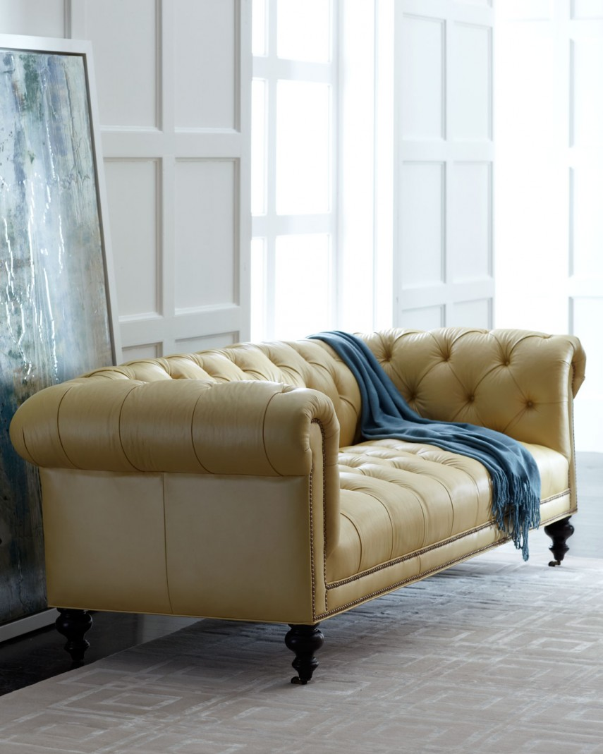 Snazzy Old Hickory Tannery | Enticing Horchow Sofa