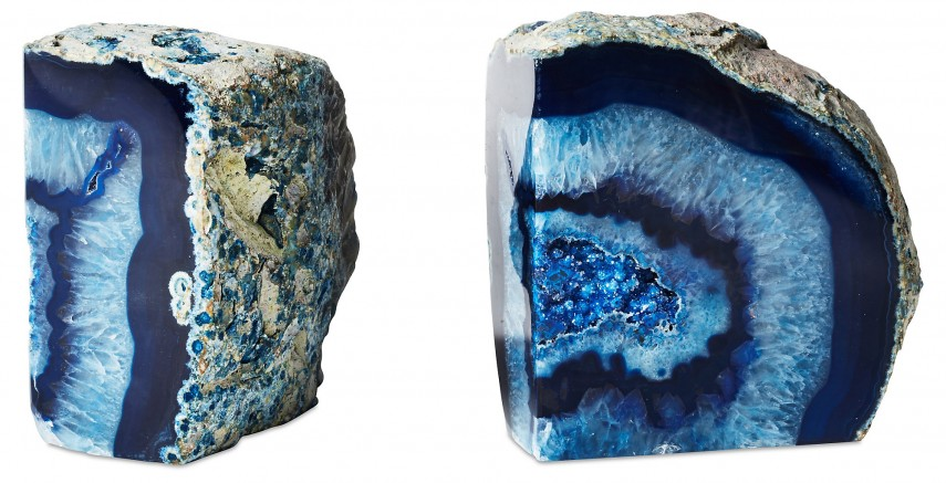 Splendiferous Geode Bookends | Immaculate Mineral Bookends Designs
