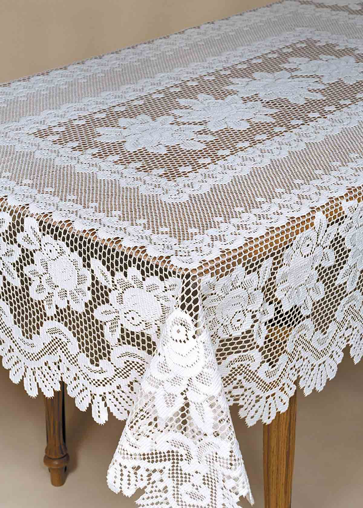 Decor Lovely Lace Tablecloths For Dining Table Decoration
