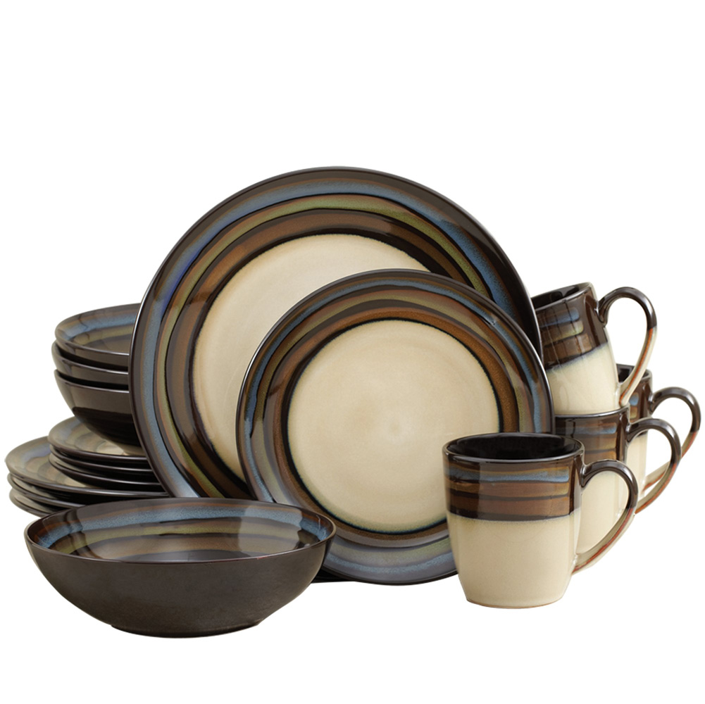 Stoneware Dinnerware Sets | 32 Piece Dinnerware Set | Asian Dinnerware