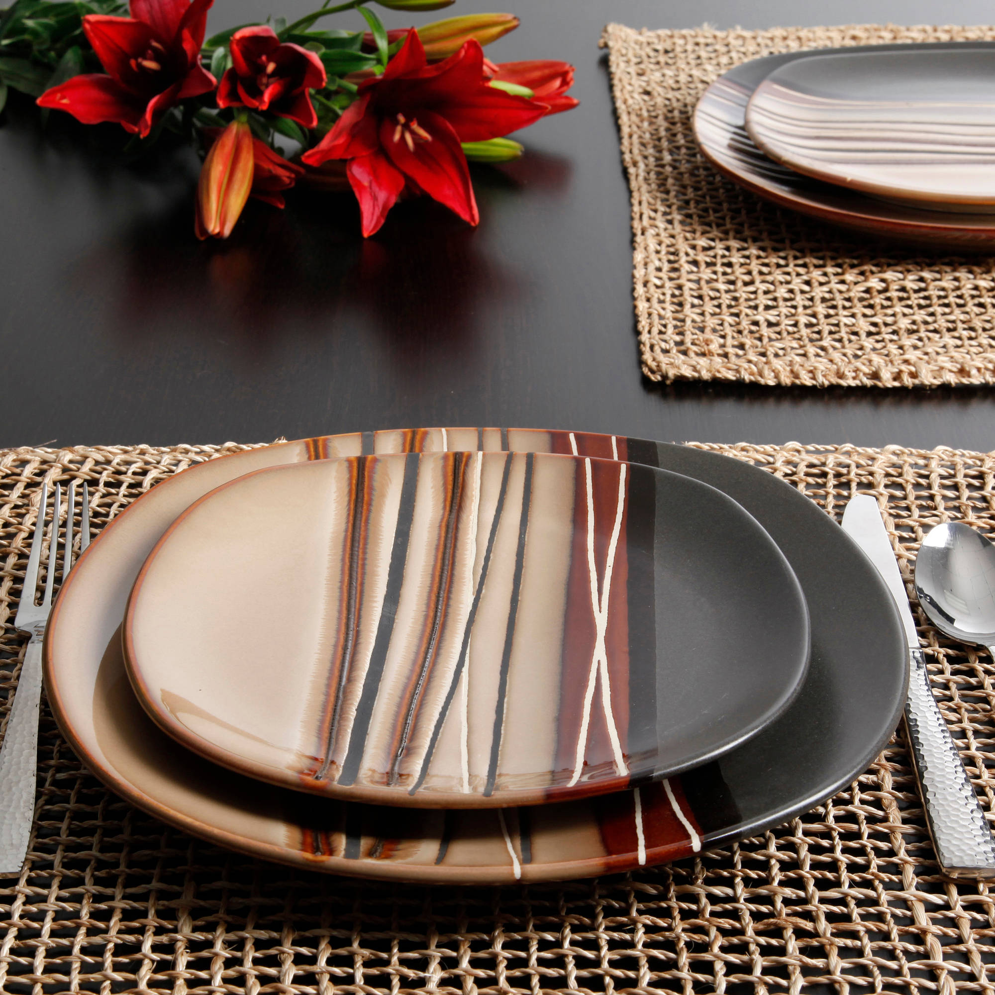 Stoneware Dinnerware Sets | 40 Piece Dinnerware Set | Mikasa Dinnerware Sets & Dining Room: Fascinating Stoneware Dinnerware Sets For Dining Room ...
