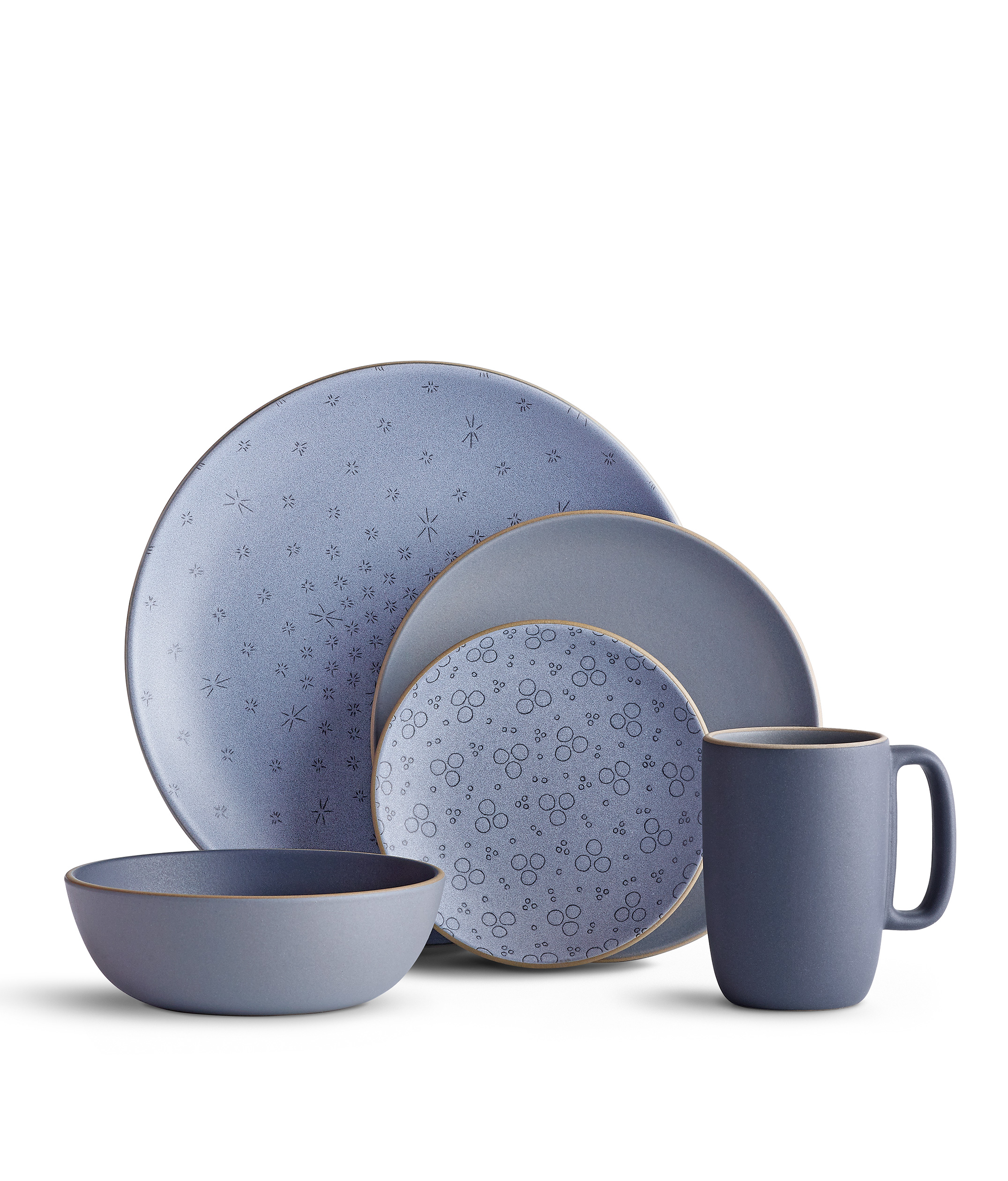 Stoneware Dinnerware Sets | Blue Stoneware Dinnerware Sets | Square Dinnerware Sets