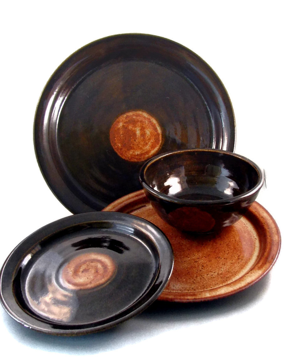 Stoneware Dinnerware Sets | Ceramic Dinnerware | Square Dish Sets