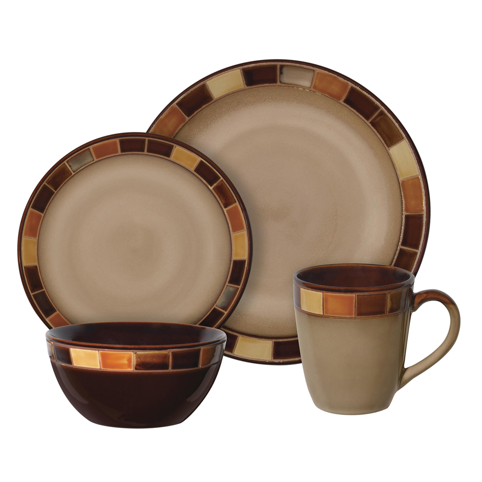 Stoneware Dinnerware Sets | Square Dinnerware | Dishes Set