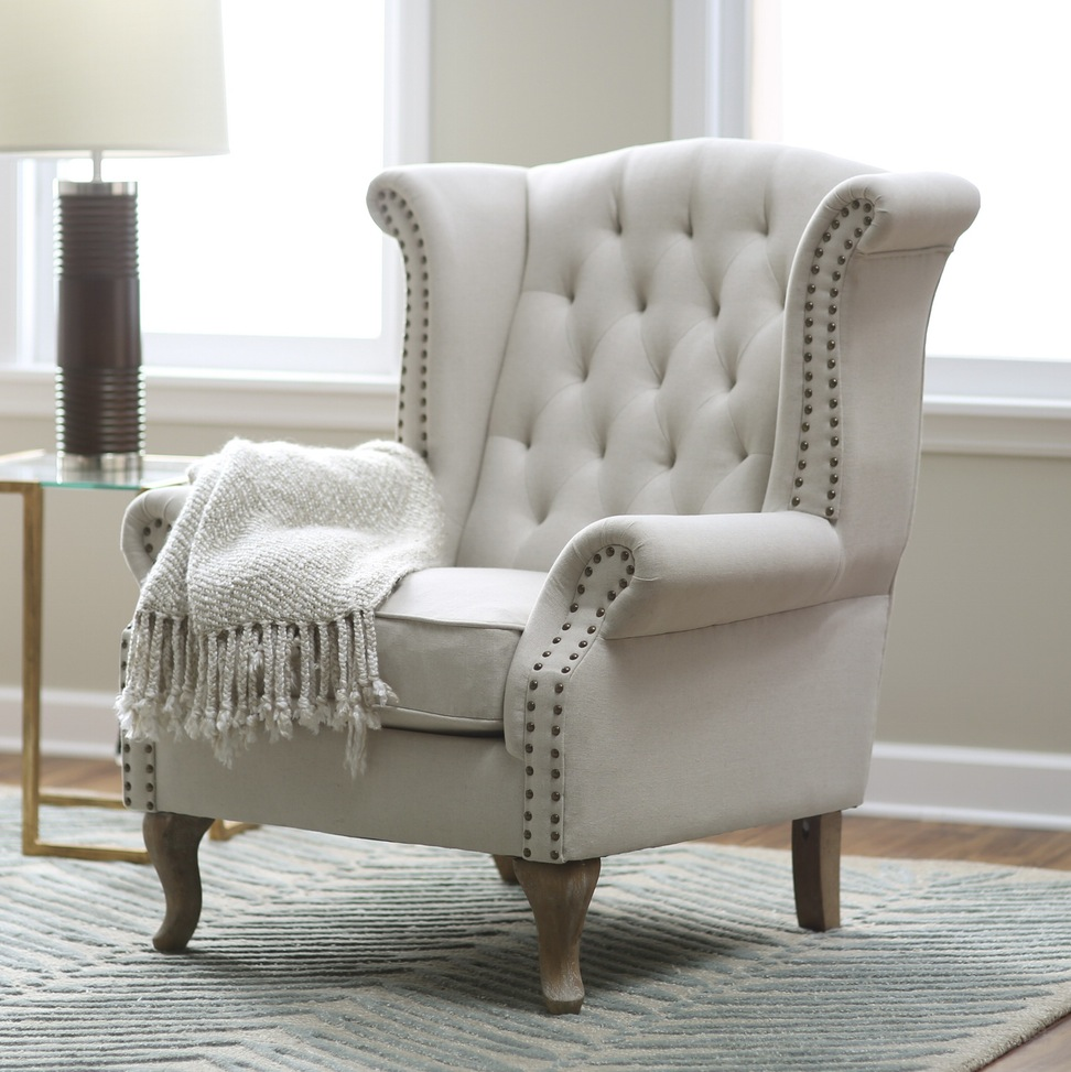 Studded Accent Chair | Occasional Dining Chairs | Occasional Chairs