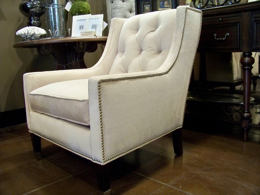 Studded Accent Chair | Tufted Chair | Tufted Vanity Chair
