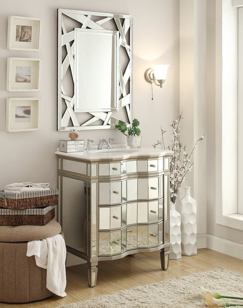 Stylish Mirrored Vanity Bathroom | Lovely Chans Furniture