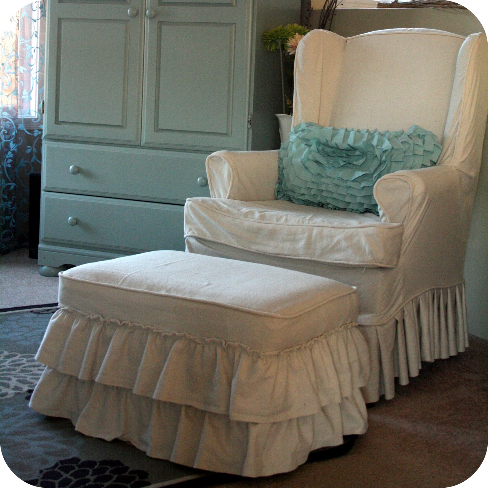 Sure Fit Ottoman Covers | Oversized Chair Slipcover | Walmart Slipcovers
