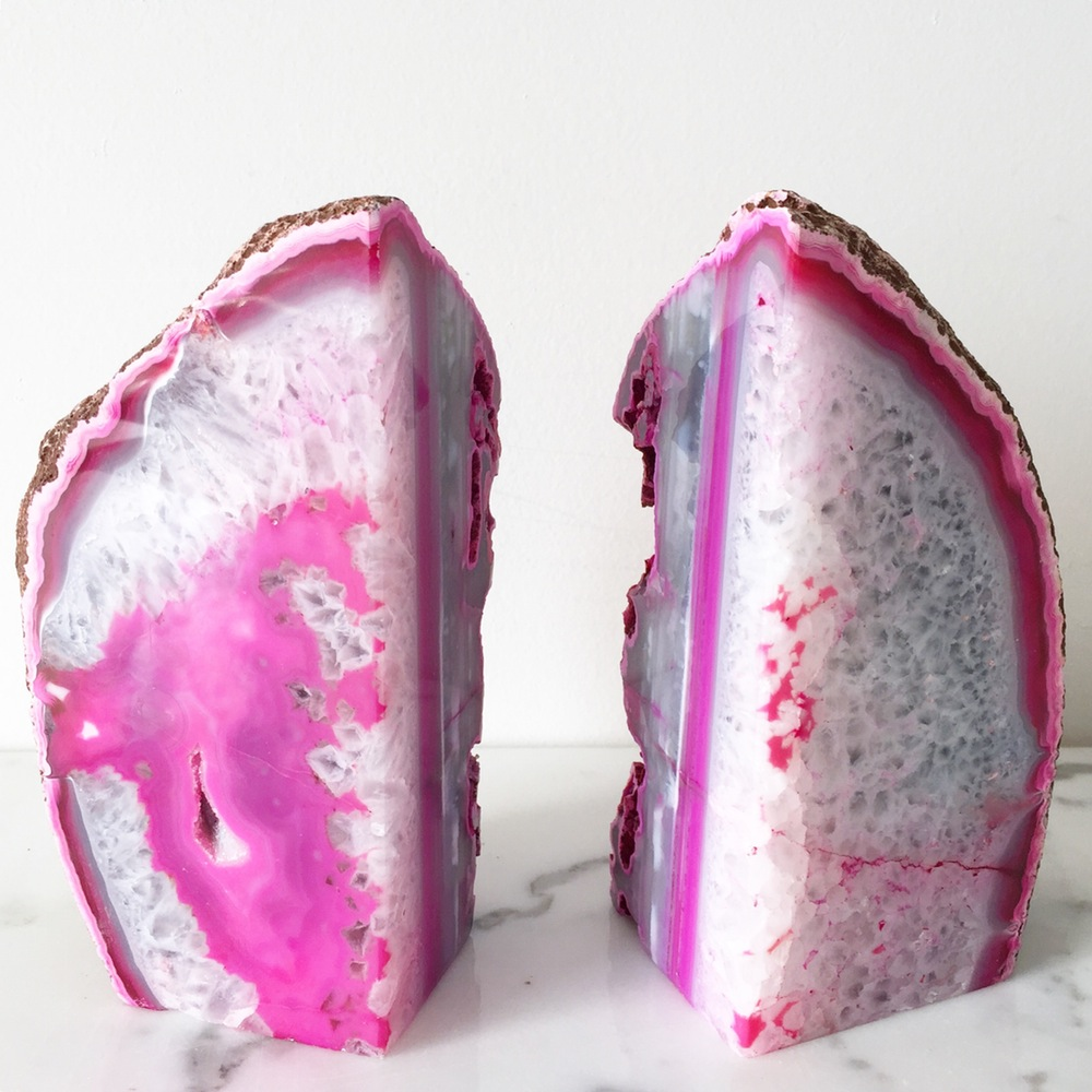 Surprising Rock Book Ends | Breathtaking Geode Bookends
