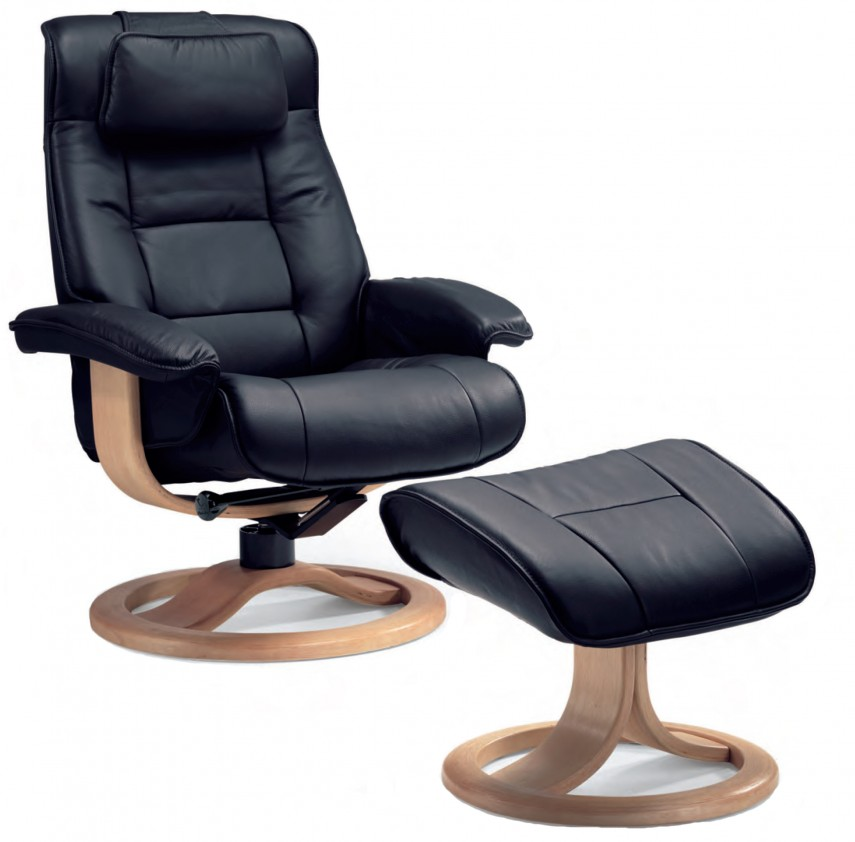 Swivel Armchair | Leather Chair And Ottoman | Oversized Living Room Chair
