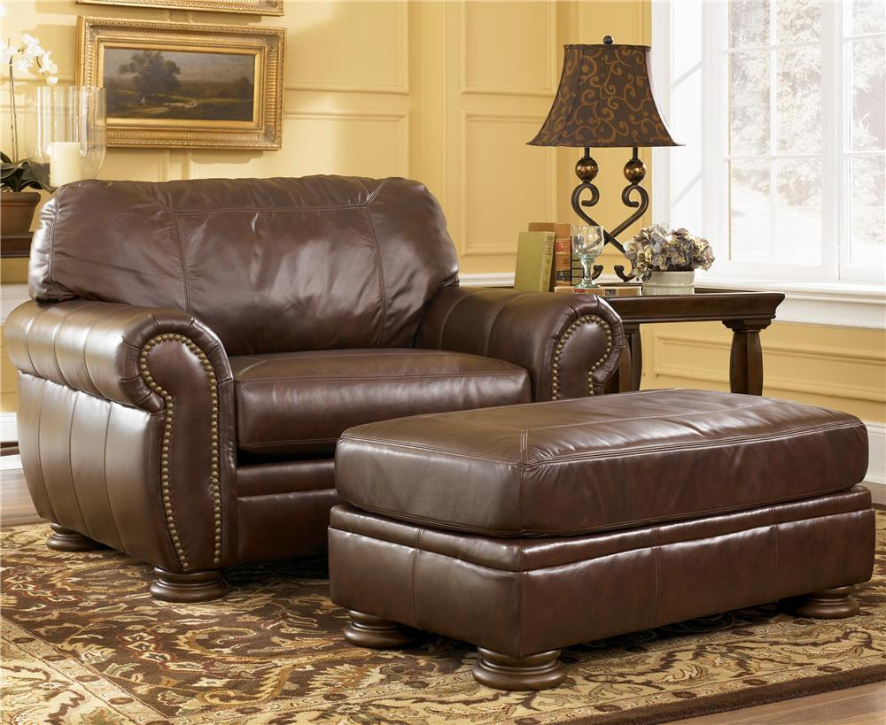 Swivel Chair Living Room | Leather Club Chair Recliner | Leather Chair and Ottoman