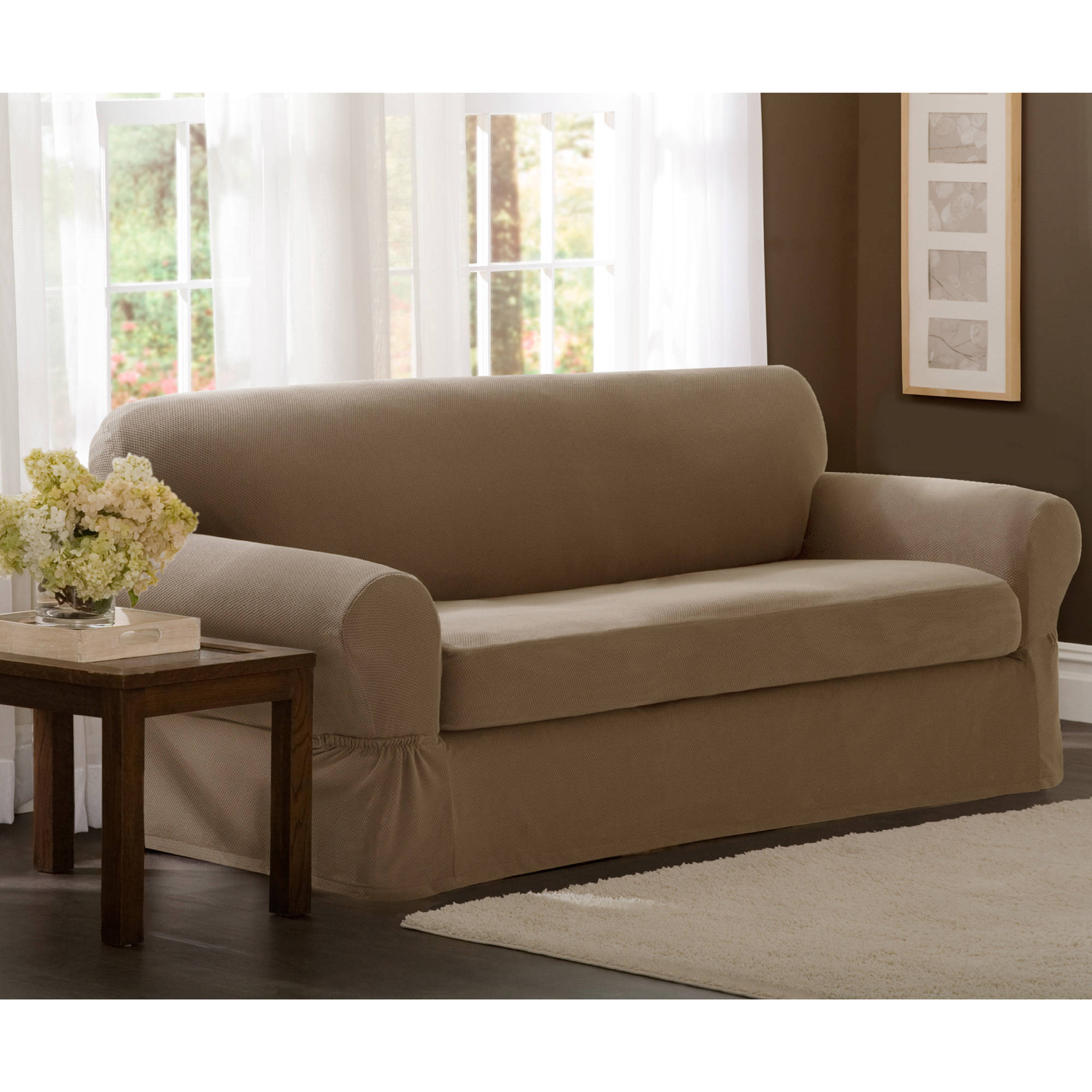 Oversized sofa slipcover couch slipcovers thesofa Loveseat slip cover