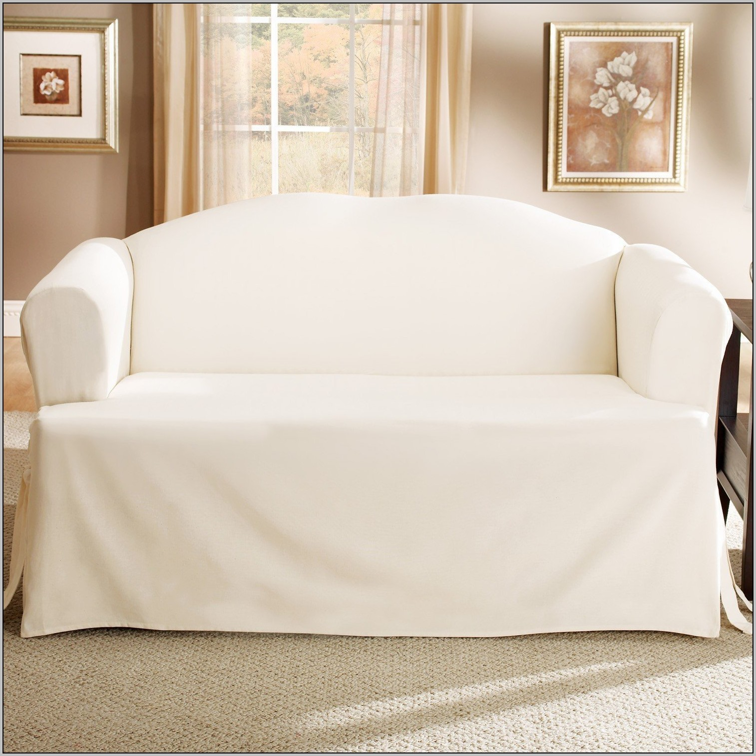 T Cushion Sofa Slipcover | Slipcovers for Loveseats with 2 Cushions | Cushions for Couches