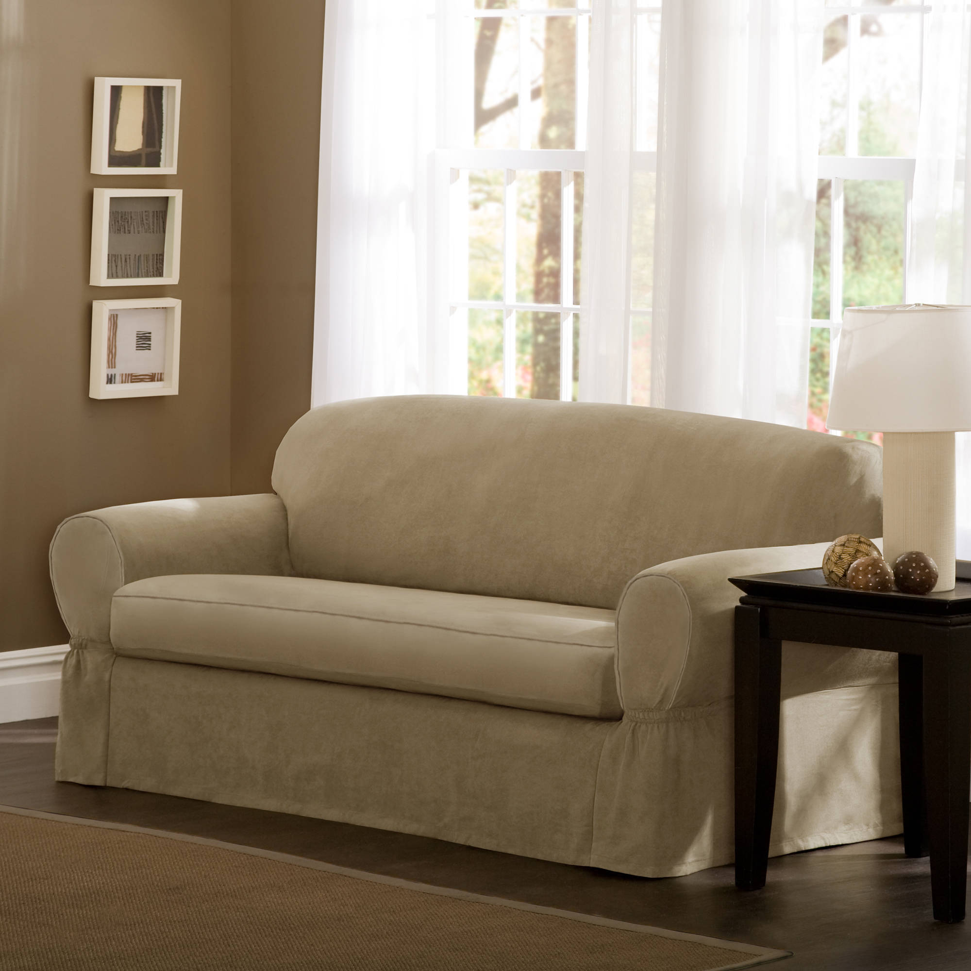 T Cushion Sofa Slipcover | Sure Fit 3 Piece Sofa Slipcover | Cushions For  Couches