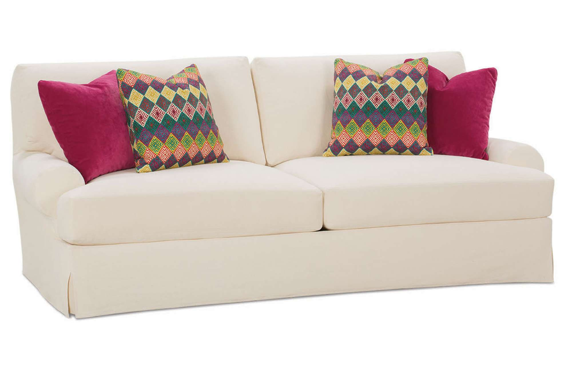 T shaped sofa slipcovers thesofa Loveseat slipcover