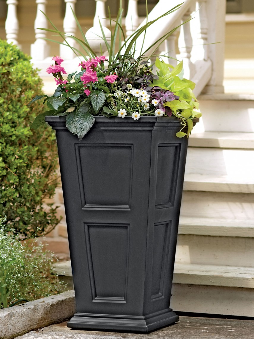 Tall Planters | Front Porch Planters | Tall Wooden Planters
