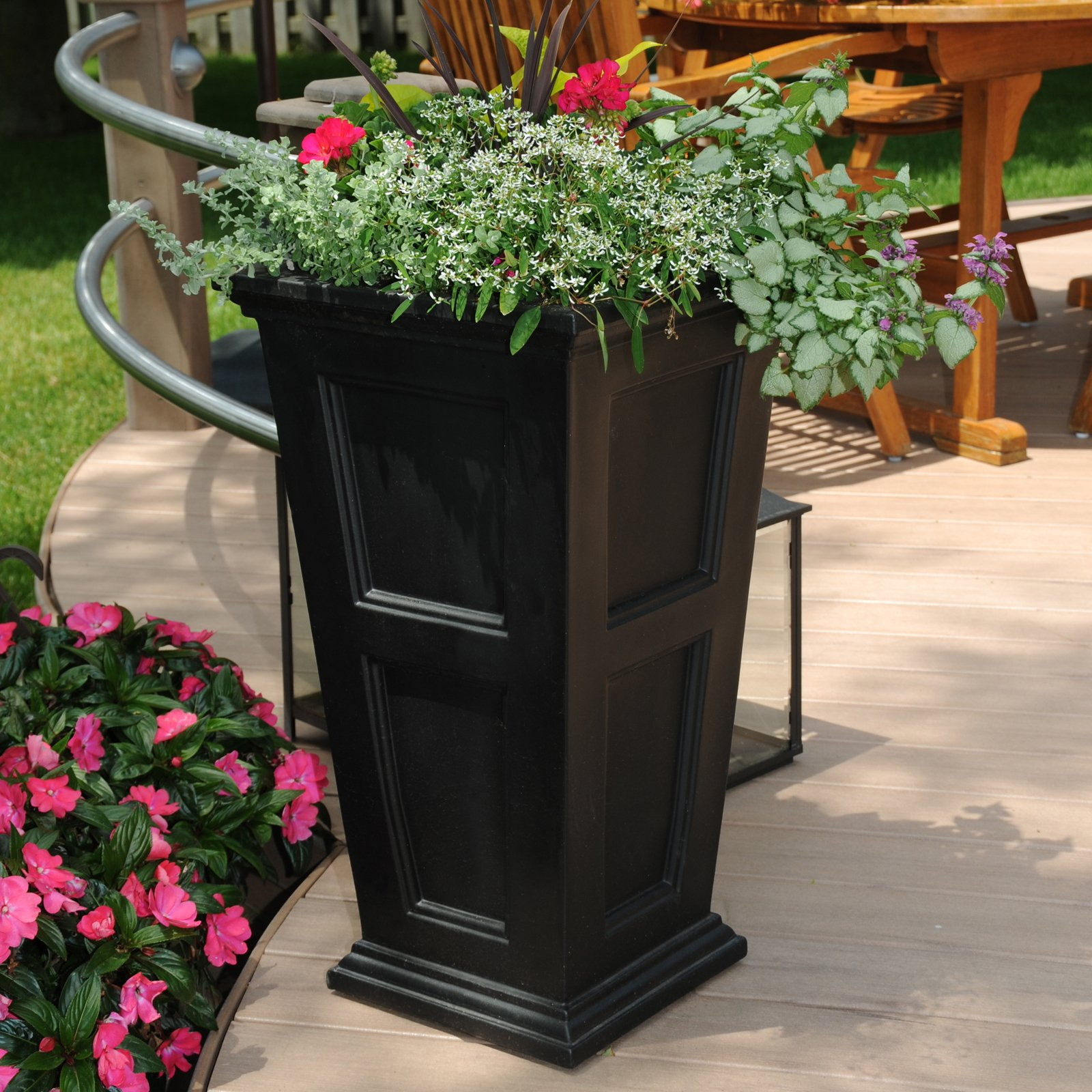 Tall Planters | Large Plastic Planters | Patio Planters