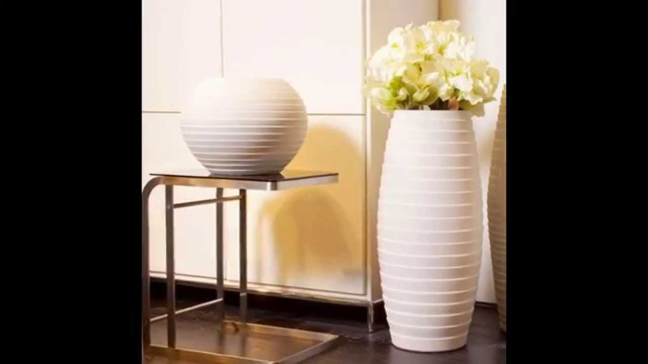 Tall Silver Vases | Floor Vase | Large Decorative Vases