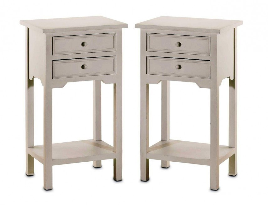 Tiny Nightstand narrow bedside table. signature s bedside table 1 drawer narrow