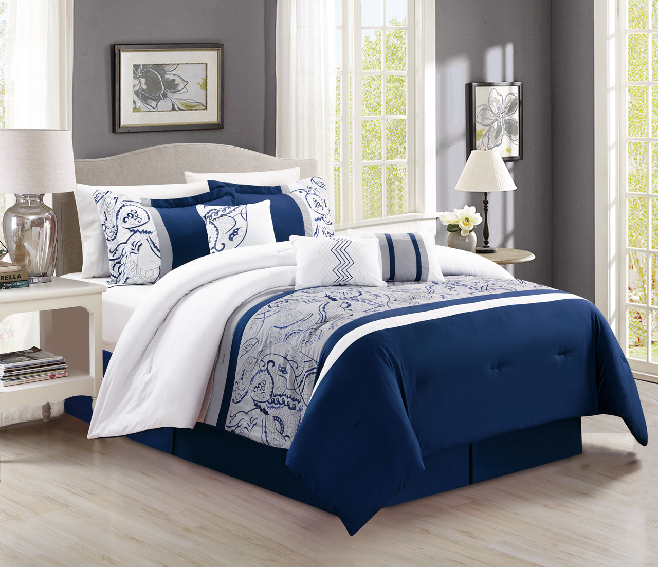 Navy blue and tan bedding - Target Comforter Navy Blue Comforter Lavender Bedding