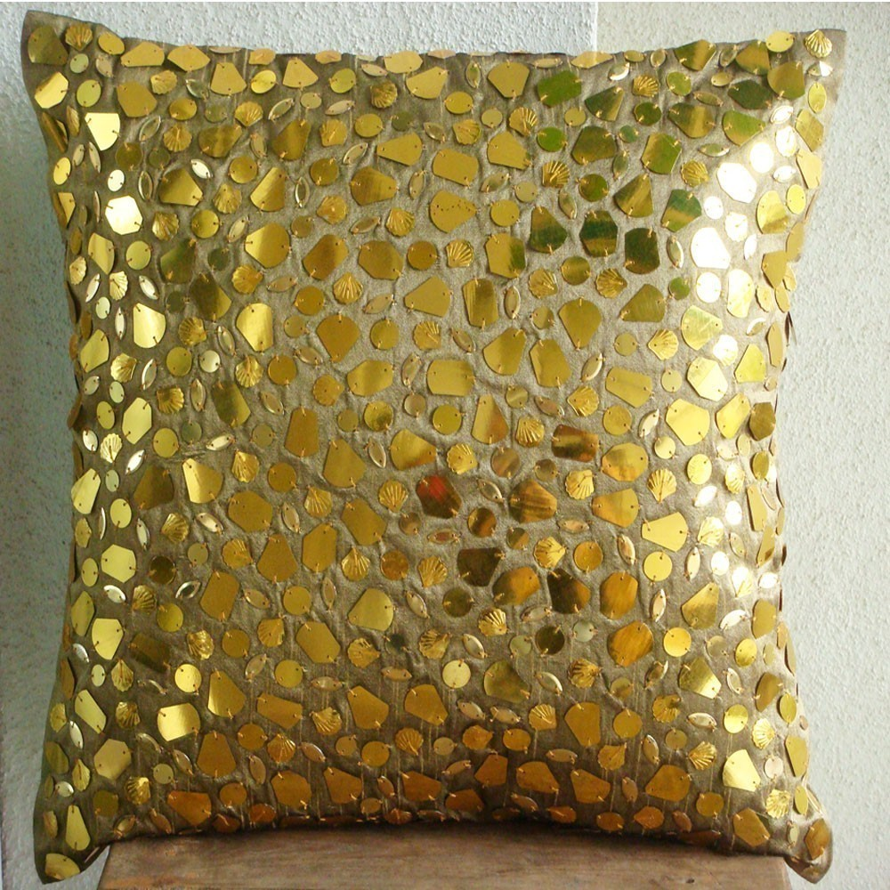 Target Decorative Pillows | 24x24 Pillow Cover | Gold Throw Pillows