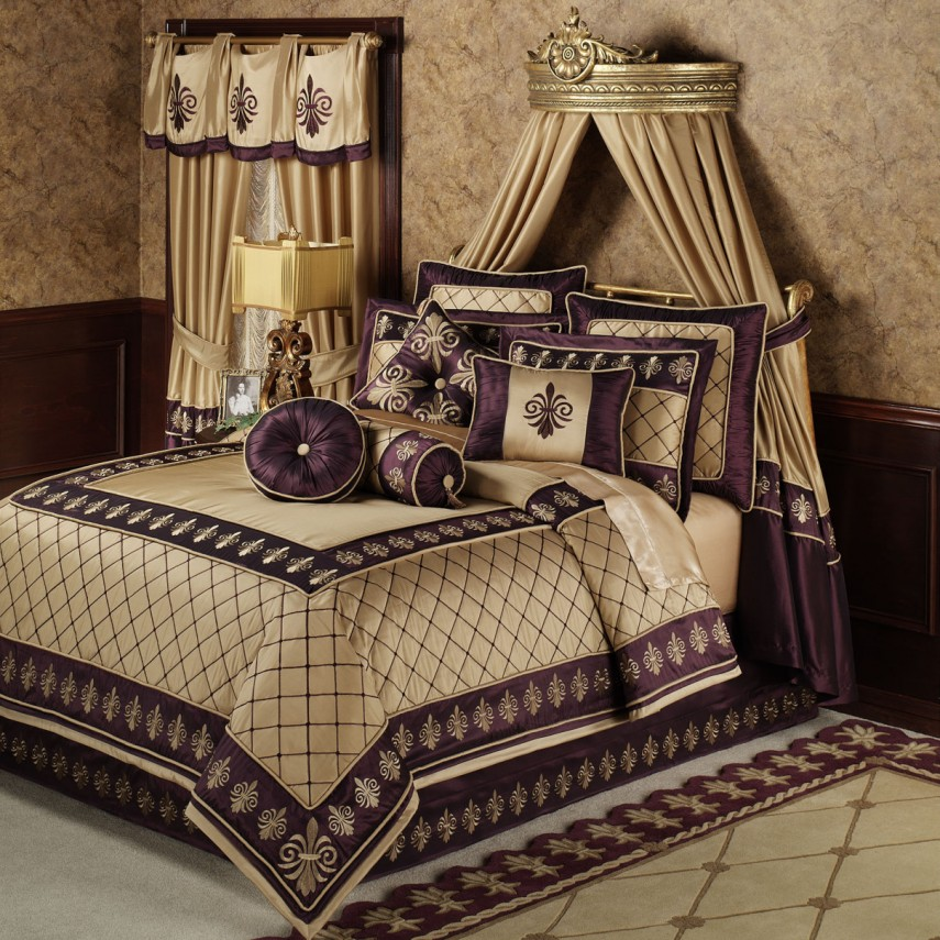 Taupe Bedding | King Bed Comforters | Luxury Comforter Sets