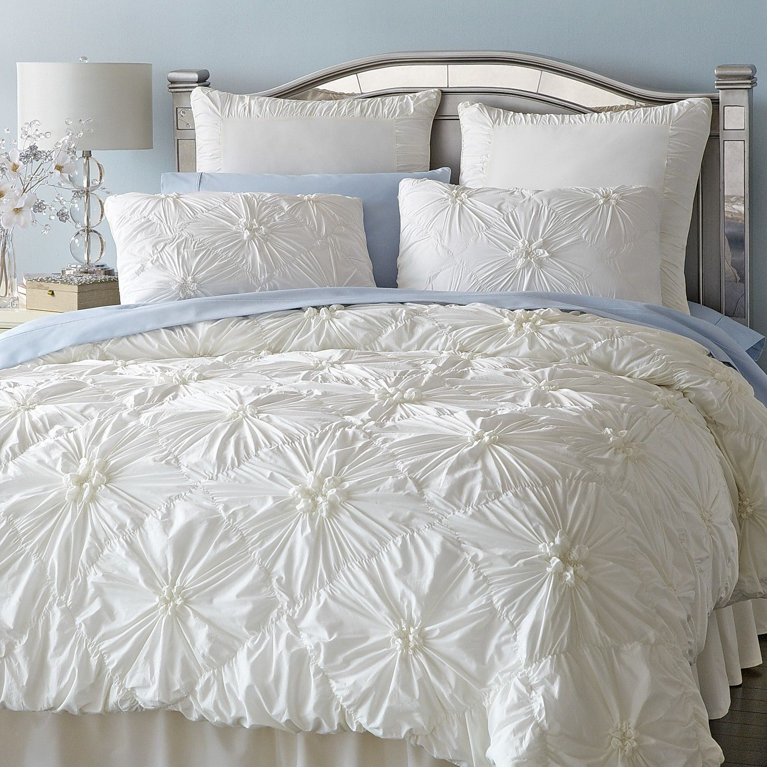 Bedroom Using White Duvet Cover Queen For Gorgeous