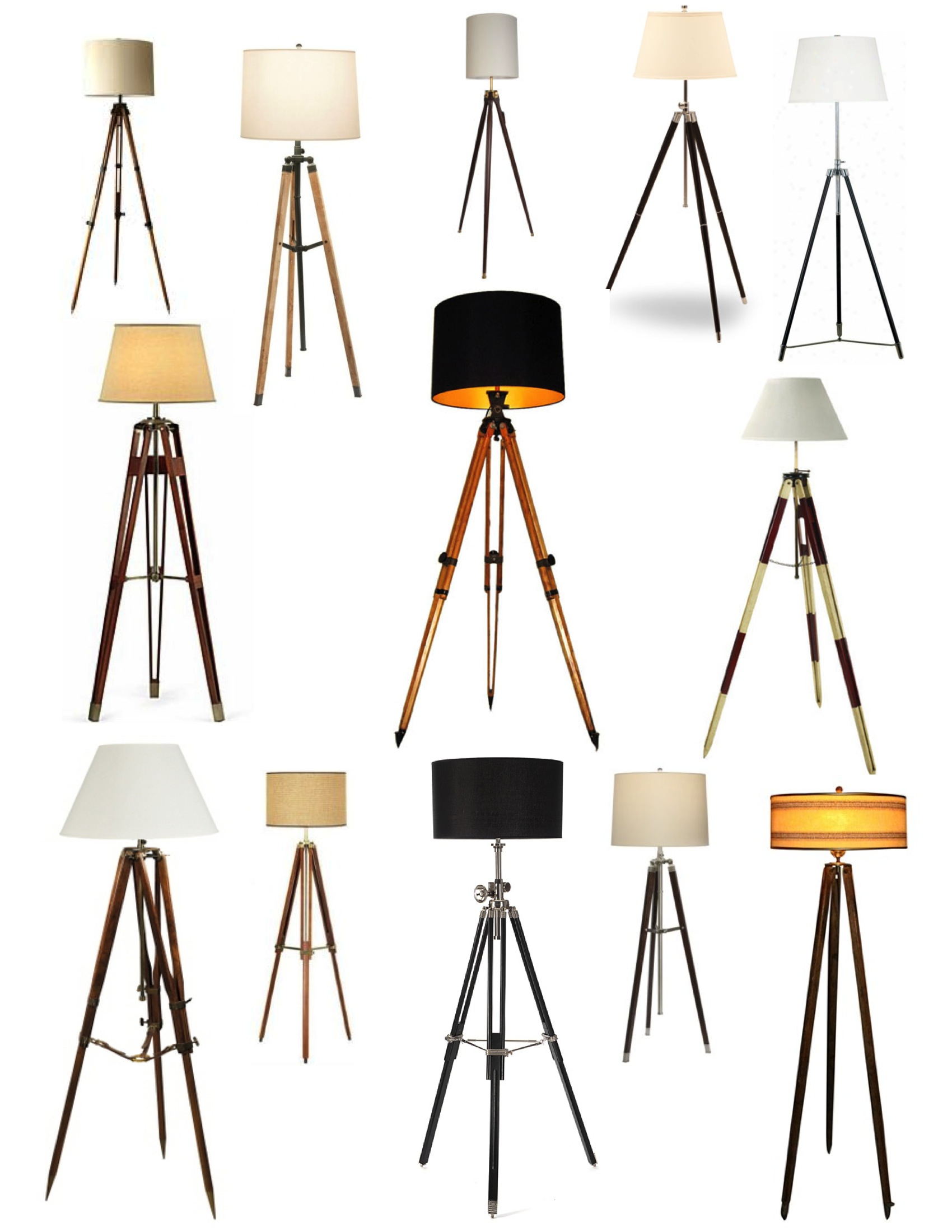 Awesome Tripod Lamp for Interior Lighting Ideas: Tripod Floor Lamp | Tripod Lamp | Surveyor Floor Lamp