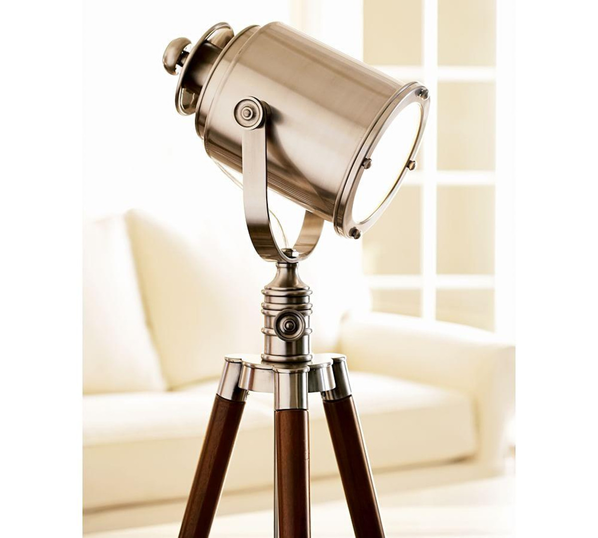 Tripod Lamp Base | Tripod Lamp | Floor Lamp with Storage