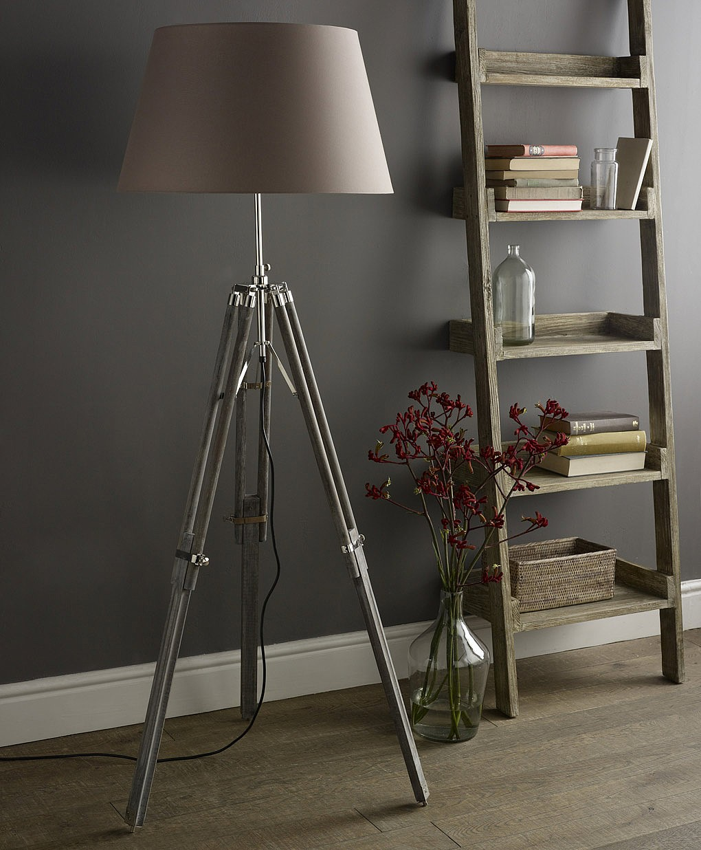 Tripod Lamp | Crate and Barrel Desk Lamp | Mid Century Floor Lamp