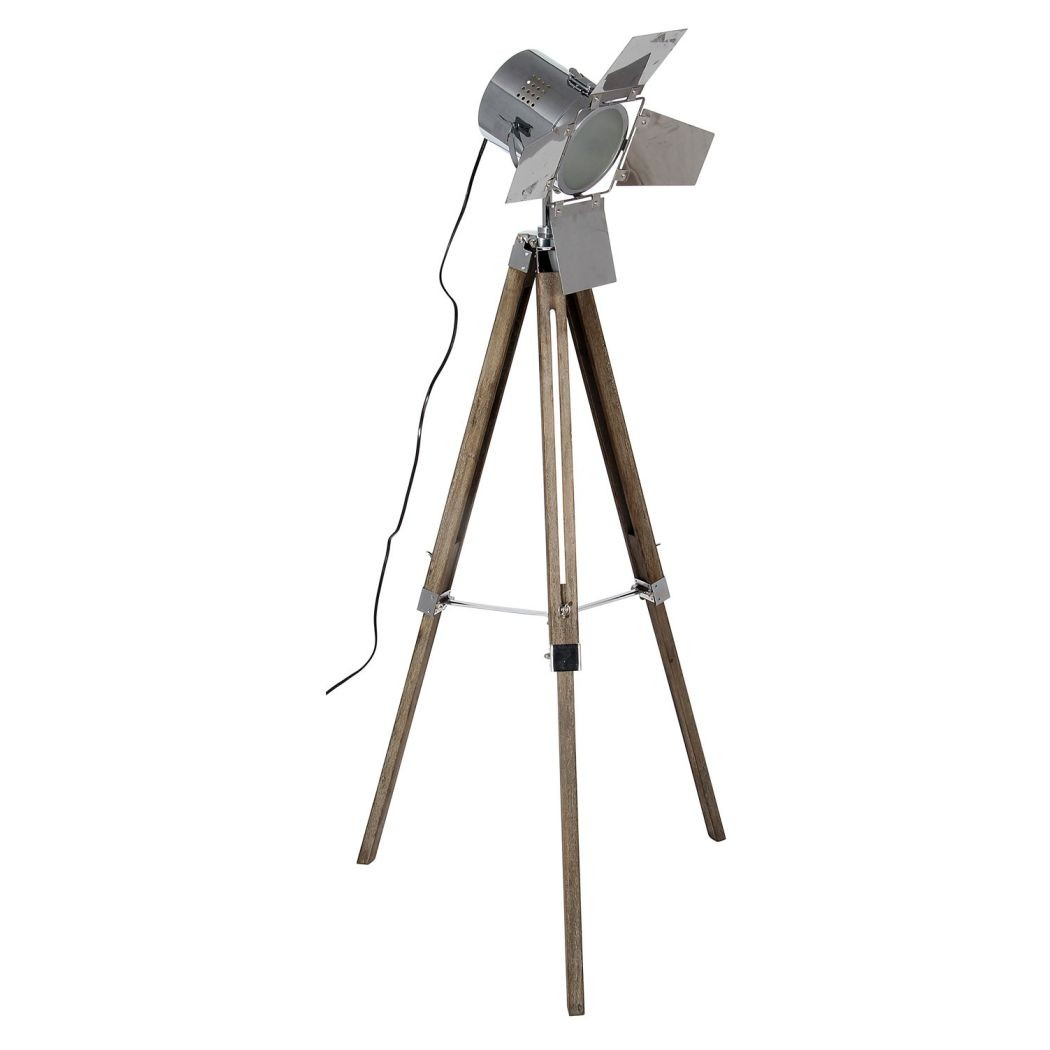 Decor awesome tripod lamp for interior lighting ideas for Surveyors floor lamp wood