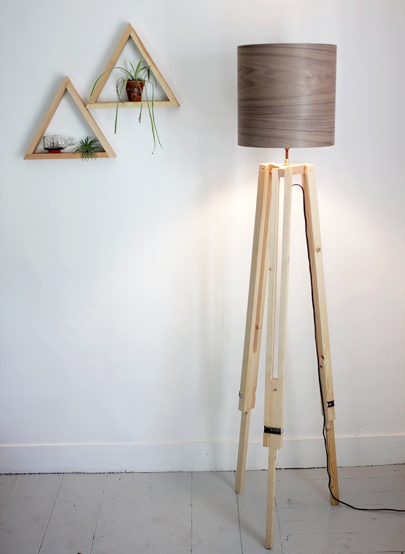 Tripod Wooden Floor Lamp | Tripod Lamp | Surveyor Lamp