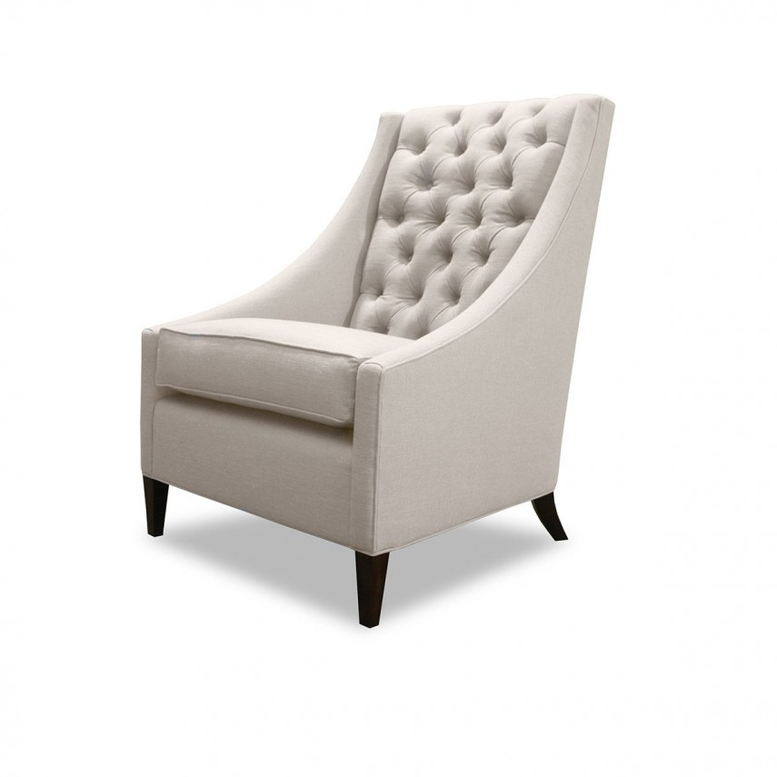 Tufted Chair | Accent Chair Teal | Tufted Linen Chair