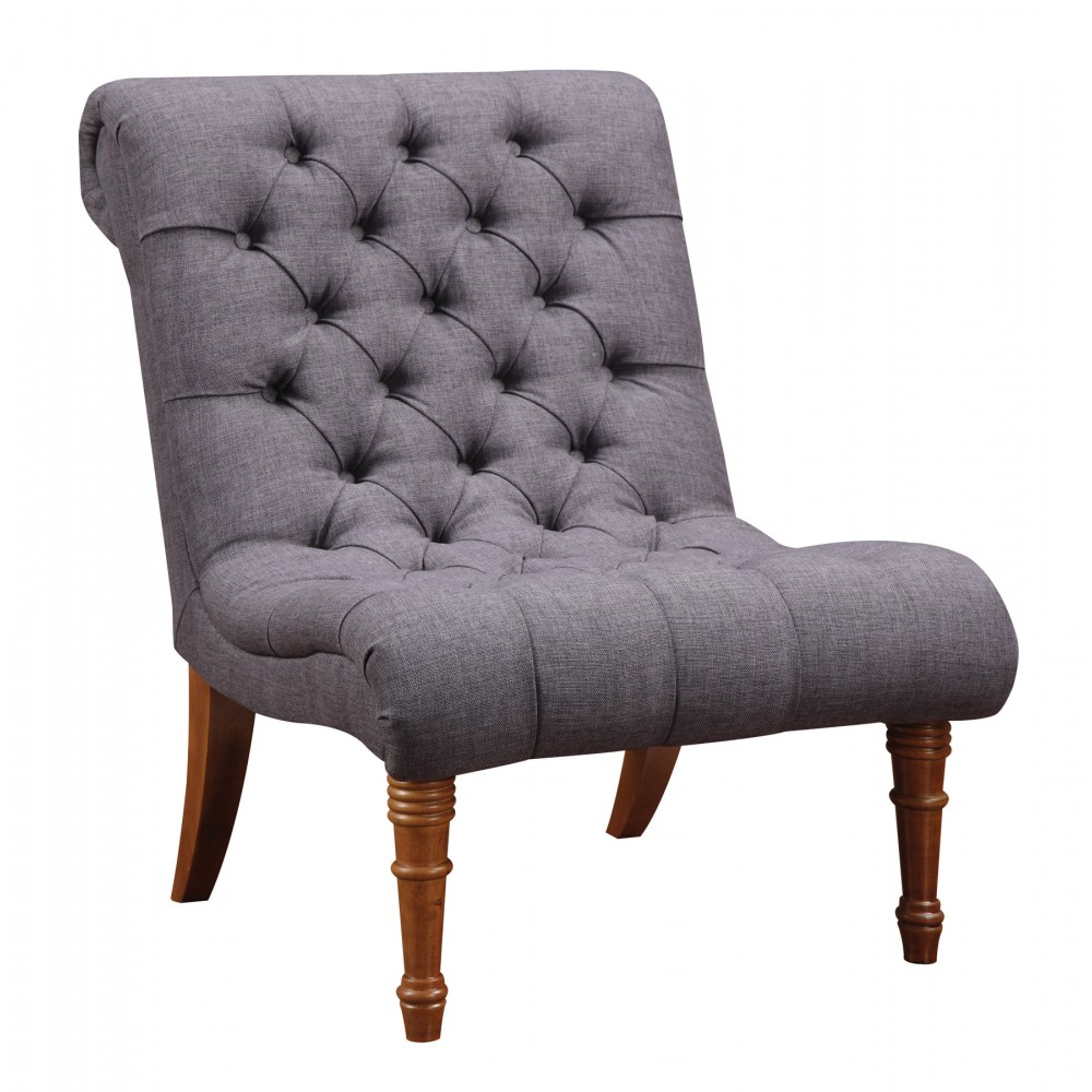 Tufted Chair and Ottoman | Tufted Chair | Tufted Armless Chair