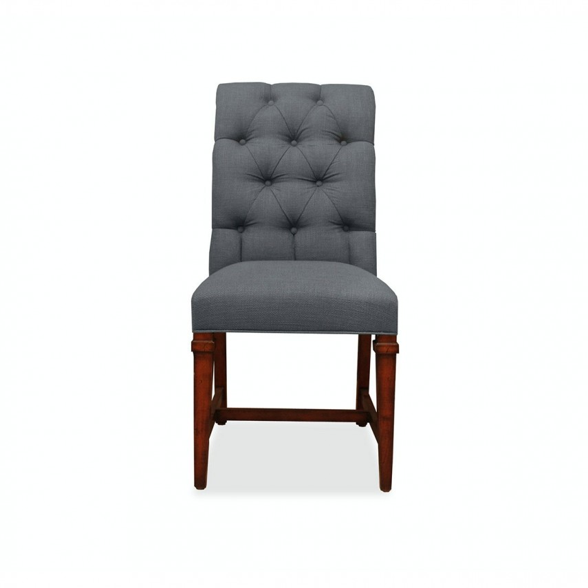 Tufted Chair | Purple Chair And Ottoman | Marshalls Furniture