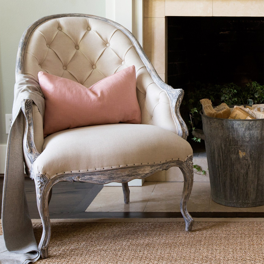 Tufted Chair | Tufted Leather Chair | Tufted Slipper Chair